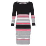 great-plains-clothing-sassari-striped-knitted-dress-J1AAD-black-combo